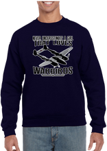 Never Underestimate A Girl That Loves Warbirds Crew Neck Sweatshirt - Vovo Inc
