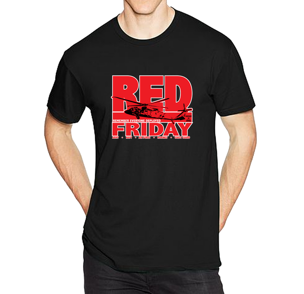 Red Friday Deployment Short Sleeve T-Shirt - Vovo Inc