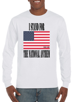 I Stand For The National Anthem Flag Long Sleeve T-Shirt - Vovo Inc