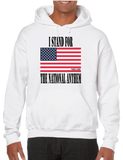 I Stand For The National Anthem Flag Hoodie Hooded Pullover Sweatshirt - Vovo Inc