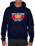 I Am A Veteran My Oath Never Expires National Defense Hoodie Hooded Pullover Sweatshirt - Vovo Inc