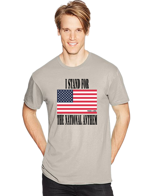 I Stand For The National Anthem Flag Short Sleeve T-Shirt - Vovo Inc