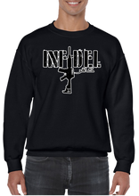 USA Military American Infidel Horizontal Arabic Crew Neck Sweatshirt - Vovo Inc