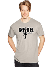 USA Military American Infidel Horizontal Arabic Short Sleeve T-Shirt - Vovo Inc