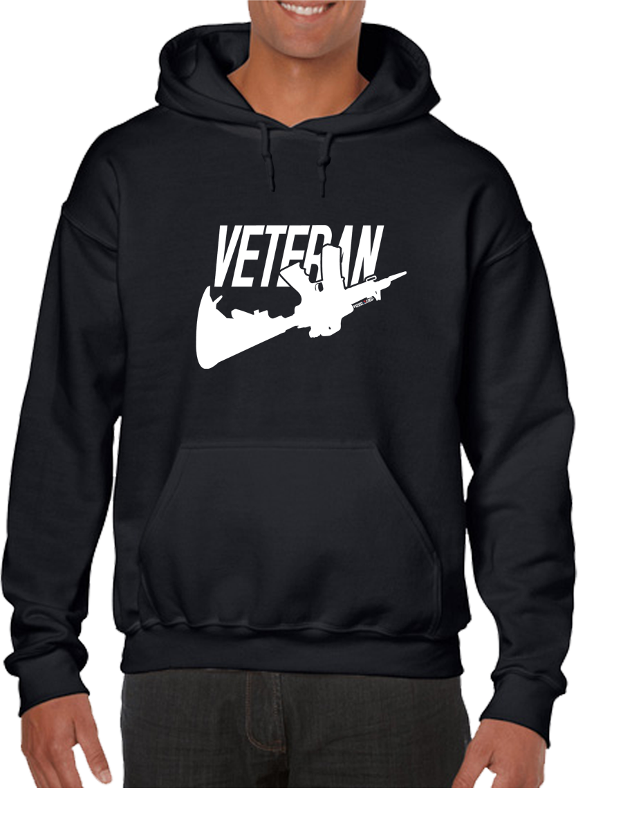 Just Veteran Version 2 Hoodie Hooded Pullover Sweatshirt - Vovo Inc