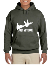 Just Veteran Hoodie Hooded Pullover Sweatshirt - Vovo Inc
