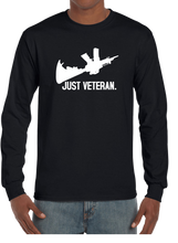 Just Veteran Long Sleeve T-Shirt - Vovo Inc