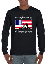 We Stand For The Flag We Kneel For The Fallen Long Sleeve T-Shirt - Vovo Inc
