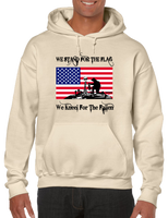 We Stand For The Flag We Kneel For The Fallen Hoodie Hooded Pullover Sweatshirt - Vovo Inc