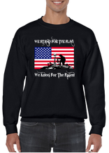 We Stand For The Flag We Kneel For The Fallen Crew Neck Sweatshirt - Vovo Inc
