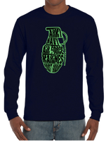 Grenade Army Navy Airforce Marine Corps Coast Guard Long Sleeve T-Shirt - Vovo Inc