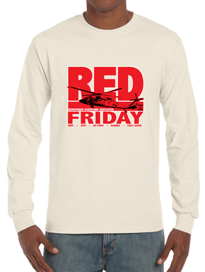 Red Friday Deployment Long Sleeve T-Shirt - Vovo Inc