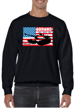 USA M-1 Abrams Tank Flag Crew Neck Sweatshirt - Vovo Inc
