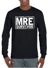 US Military MRE Survivor Veteran Long Sleeve T-Shirt - Vovo Inc