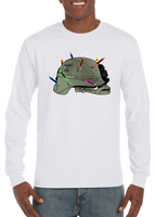 Marines Love Crayons Helmet Long Sleeve T-Shirt - Vovo Inc