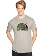 Marines Love Crayons Helmet Short Sleeve T-Shirt - Vovo Inc