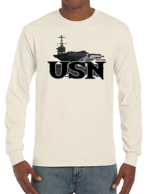 U.S. USN Navy Pride Honor Courage Bravery Served Long Sleeve T-Shirt - Vovo Inc