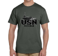 U.S. VETERAN USN Navy Pride Honor Courage Bravery Served Short Sleeve T-Shirt - Vovo Inc