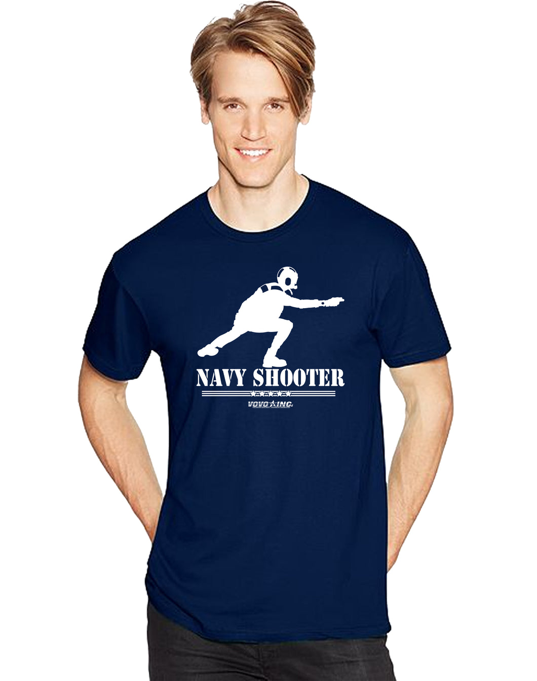 US Military Aviation Flight Deck Shooter ABH Short Sleeve T-Shirt - Vovo Inc