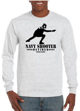 Retired US Military Aviation Flight Deck Shooter ABH Long Sleeve T-Shirt - Vovo Inc