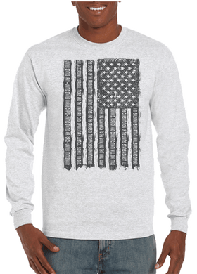 Oath of Allegiance US Flag Long Sleeve T-Shirt - Vovo Inc