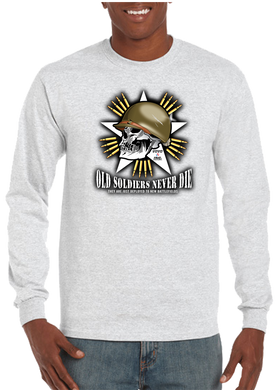 Old Soldiers Never Die Long Sleeve T-Shirt - Vovo Inc