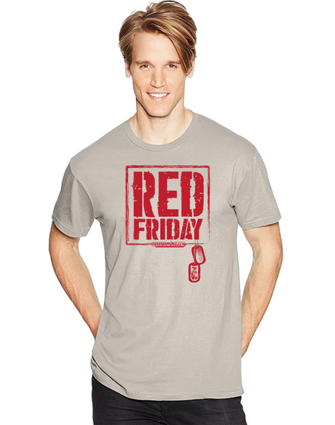Red Friday Dog Tags Short Sleeve T-Shirt - Vovo Inc
