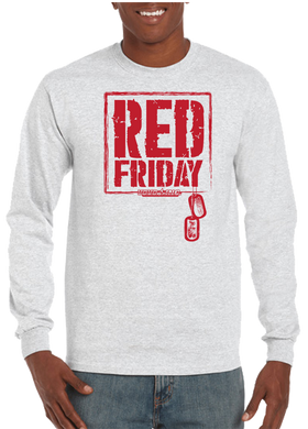 Red Friday Dog Tag Long Sleeve T-Shirt - Vovo Inc