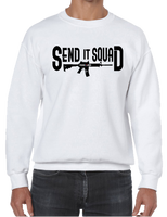 Send It Squad Rifle US Sniper Infantry Style Crew Neck Sweatshirt - Vovo Inc