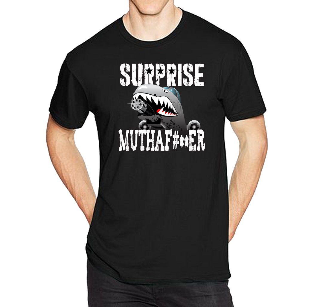 Surprise Muthafu#ker A-10 Saves The Day Warthog Short Sleeve T-Shirt - Vovo Inc