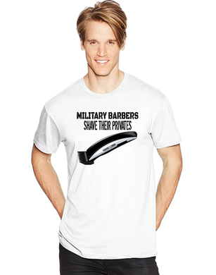 Military Barbers Shave Their Privates Short Sleeve T-Shirt - Vovo Inc