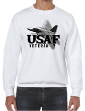 U.S. USAF Air Force VETERAN Pride Honor Courage Bravery Served Crew Neck Sweatshirt - Vovo Inc