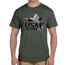 U.S. USAF Air Force VETERAN Pride Honor Courage Bravery Served Short Sleeve T-Shirt - Vovo Inc
