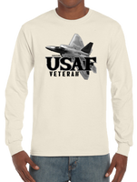 U.S. USAF Air Force VETERAN Pride Honor Courage Bravery Served Long Sleeve T-Shirt - Vovo Inc