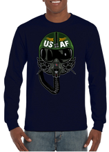 USA Air Force Aviator Pilot Long Sleeve T-Shirt - Vovo Inc