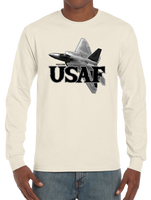 U.S. USAF Air Force Pride Honor Courage Bravery Served Long Sleeve T-Shirt - Vovo Inc