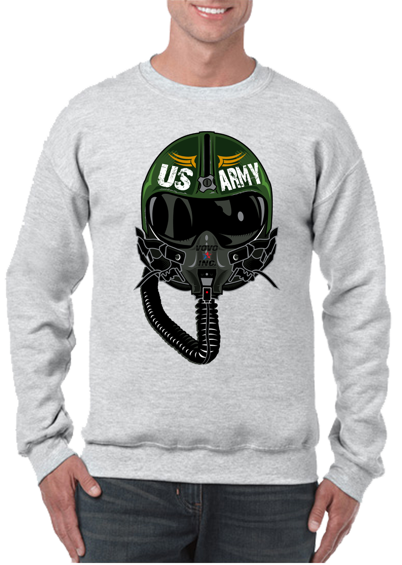 USA Army Aviator Pilot Crew Neck Sweatshirt - Vovo Inc