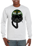 USA Army Aviator Pilot Long  Sleeve T-Shirt - Vovo Inc