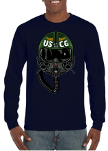 USA Coast Guard Aviator Pilot Long Sleeve T-Shirt - Vovo Inc