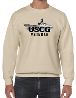 U.S. USCG Coast Guard VETERAN Pride Honor Courage Bravery Served Crew Neck Sweatshirt - Vovo Inc