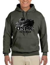 USMC U.S. VETERAN Marine Pride Honor Courage Bravery Served Hoodie Hooded Pullover Sweatshirt - Vovo Inc