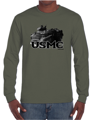 U.S. Marine Pride Honor Courage Bravery Served Long Sleeve T-Shirt - Vovo Inc