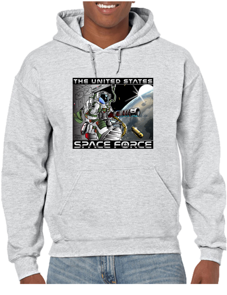 U.S. Space Force Door Gunner Hoodie Hooded Pullover Sweatshirt - Vovo Inc