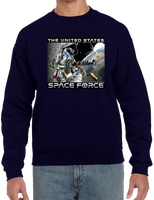 U.S. Space Force Door Gunner Crew neck Sweatshirt - Vovo Inc
