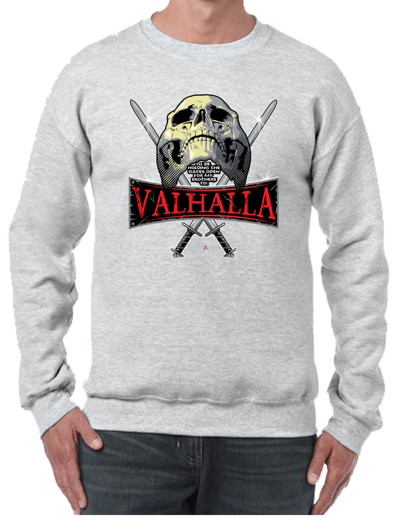 I'll Be Holding the Gates Of Valhalla For My Brothers Crew Neck Sweatshirt - Vovo Inc