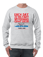 22 Veterans A Day Commit Suicide Awareness Prevention Crew neck Sweatshirt - Vovo Inc