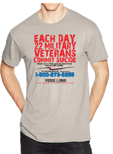 22 Veterans A Day Commit Suicide Awareness Prevention Short Sleeve T-Shirt - Vovo Inc