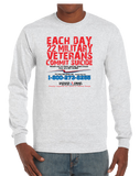 22 Veterans A Day Commit Suicide Awareness Prevention Long Sleeve T-Shirt - Vovo Inc
