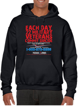 22 Veterans A Day Commit Suicide Awareness Prevention Hoodie Hooded Pullover Sweatshirt - Vovo Inc