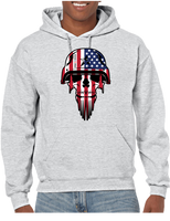 Skull USA Military Flag Helmet Warrior Hoodie Hooded Pullover Sweatshirt - Vovo Inc